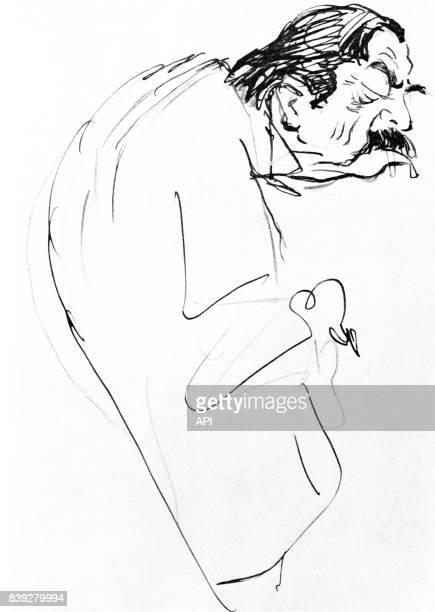 Caricature de l'homme politique français Aristide Briand par Noël Dorville