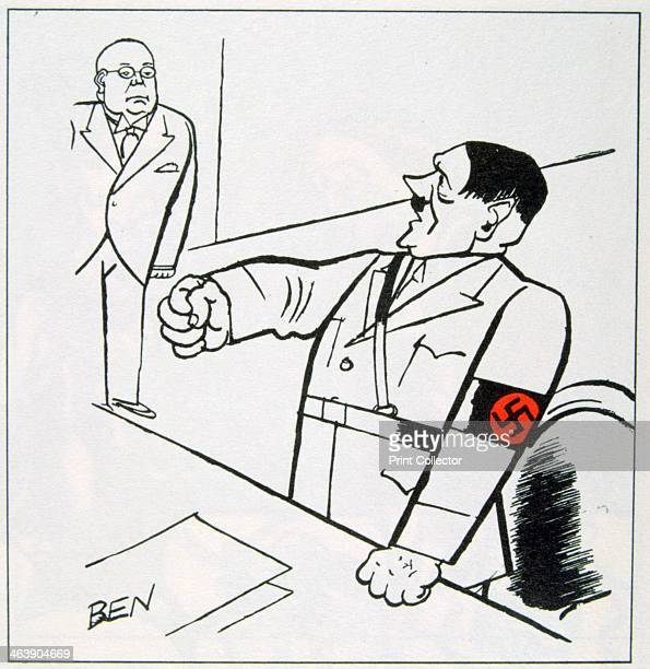 A caricature of Adolf Hitler 1936 A cartoon in Le Petit Bleu 12 March 1936