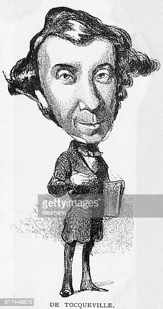 Caricature of Alexis Henry De Tocqueville French writer and commentator Undated illustration