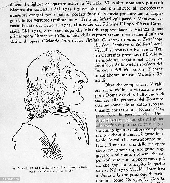 A caricature of Antonio Vivaldi by Pier Leone Ghezzi Undated illustration