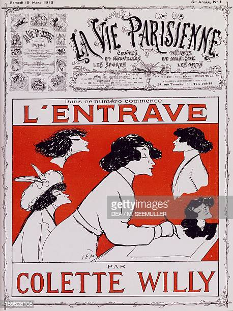 Caricature of Colette Willy pseudonym of SidonieGabrielle Colette French writer published in La vie parisienne in 1913 on the occasion of the release...