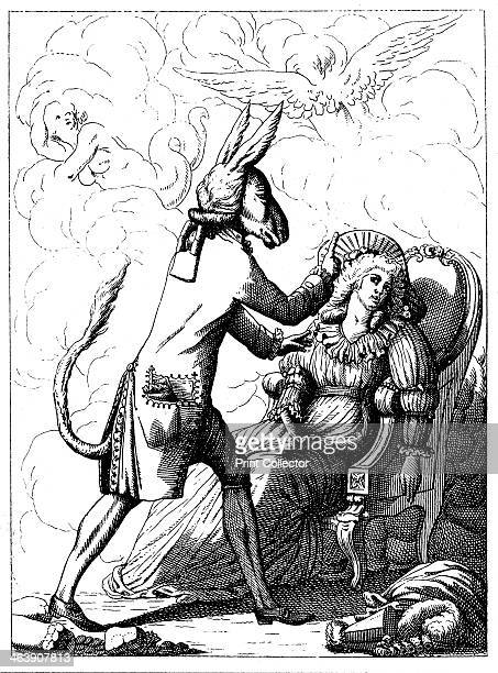 Caricature of Franz Anton Mesmer c1785 He is depicted as an ass hypnotising a female subject with a finger In 1779 soon after the publication of his...