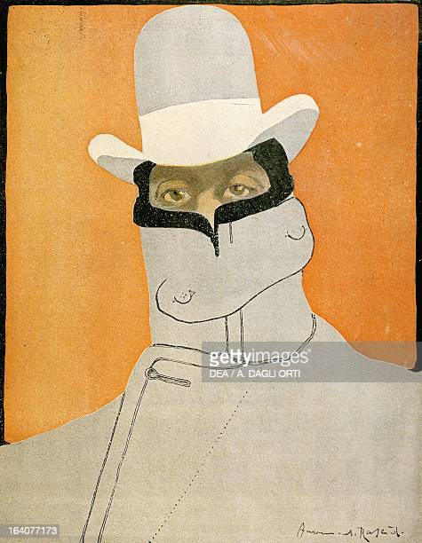 Caricature of Giacomo Puccini Italian composer from a French humorous magazine 1901 Lucca Casa Di Giacomo Puccini