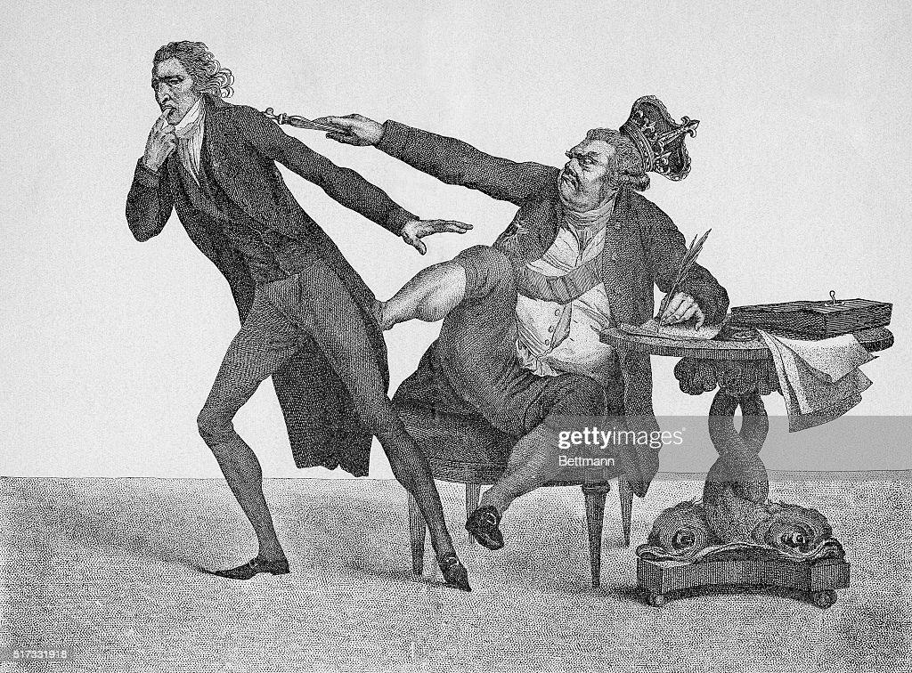 King George Iii Booting William Pitt : News Photo