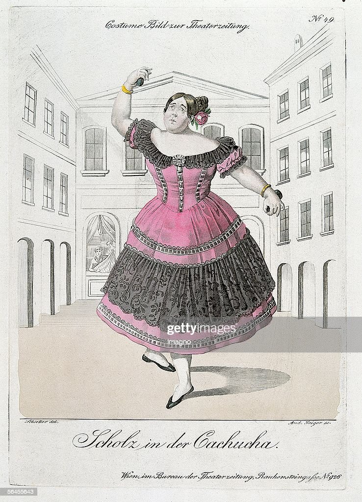 Caricature of the Ballerina Fanny Eissler : News Photo
