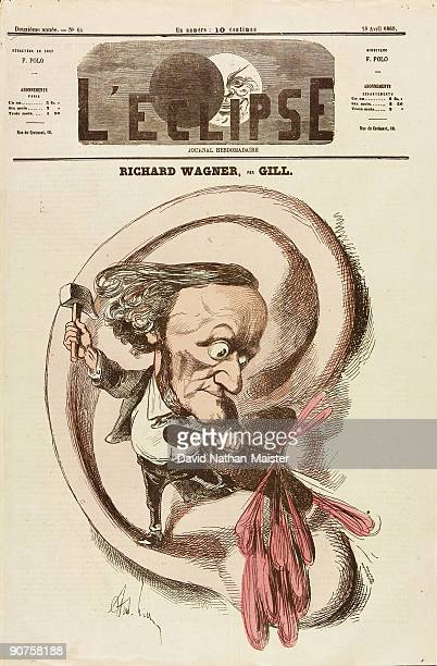 Caricature of the German composer by Gill from �L'Eclipse�