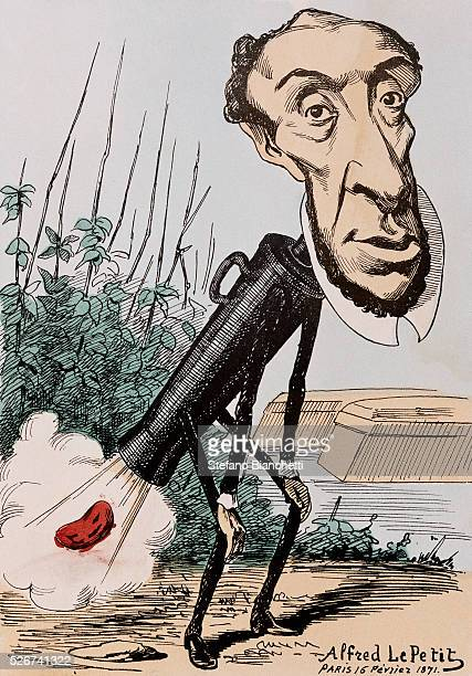Caricature of Victor Schoelcher by Alfred Le Petit