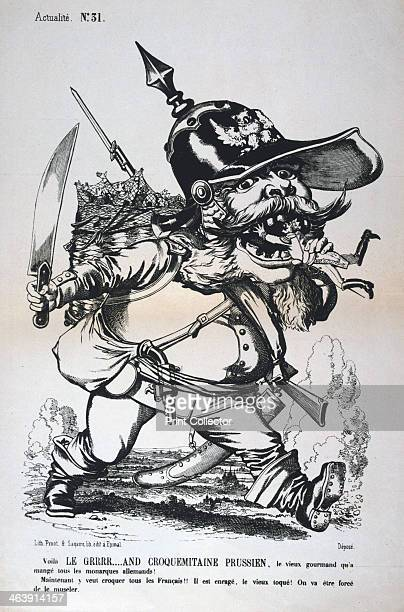 Caricature of Wilhelm I of Prussia FrancoPrussian war 18701871 From a private collection