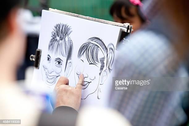 caricature - karikatuur stockfoto's en -beelden