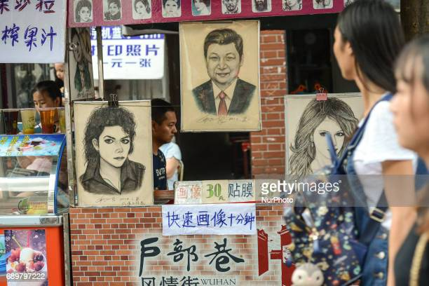 A caricature shop on Wuhan Flavor Street On Monday September 14 2016 in Wuhan China