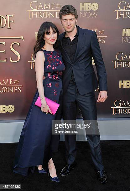 Carice van Houten and Kees van Nieuwkerk attend HBO's 'Game Of Thrones' Season 5 San Francisco Premiere at San Francisco Opera House on March 23 2015...