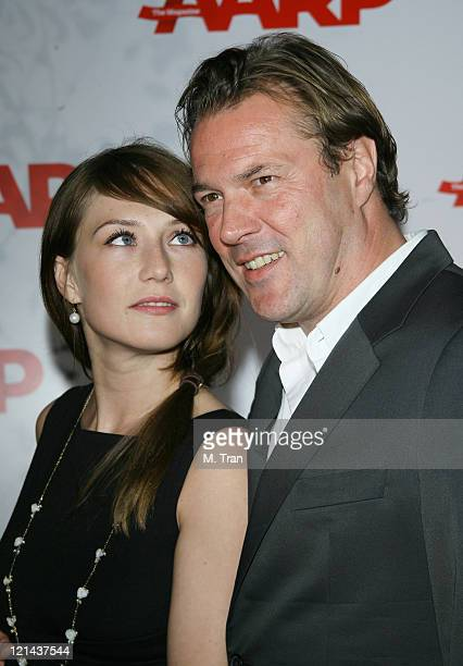 Carice van Houten and Sebastian Koch during AARP The Magazine Toasts 2007 'Movies For Grownups Awards' Winners at Hotel BelAir in Los Angeles...