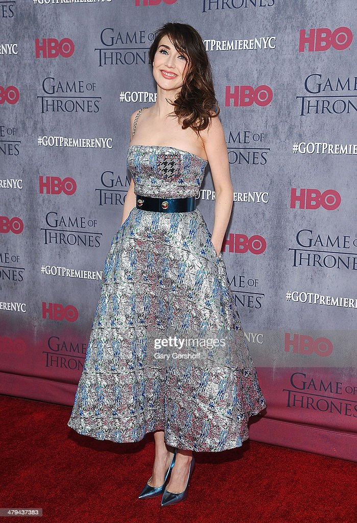Carice van Houten attends the 'Game Of Thrones' Season 4 premiere at Avery Fisher Hall, Lincoln Center on March 18, 2014 in New York City.