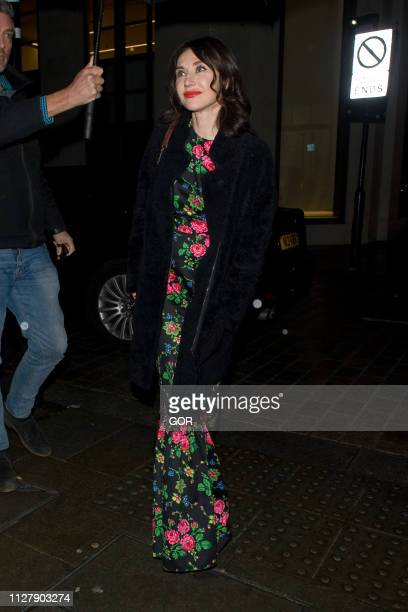 Carice Van Houten seen attending the Dunhill PreBafta dinner at the Dunhill club on February 06 2019 in London England