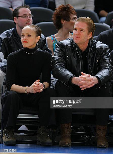 Caridad Modine and Matthew Modine during Celebrities Attend Cleveland Cavaliers vs New York Knicks Game January 28 2005 at Madison Square Garden in...