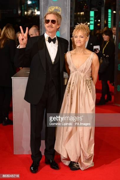 Caridad Rivera and actor Matthew Modine arriving at The EE British Academy Film Awards 2014 at the Royal Opera House Bow Street London