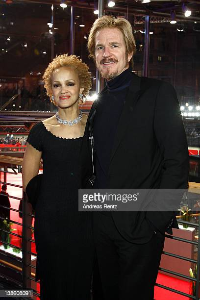 Caridad Rivera and Matthew Modine attend the Opening Party during day one 62nd Berlin International Film Festival at the Berlinale Palast on February...