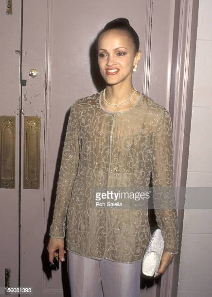 Caridad Rivera attends 'An Evening of Fashion by Celine' to Benefit God's Love We Deliver on May 23 1995 at City Center in New York City New York