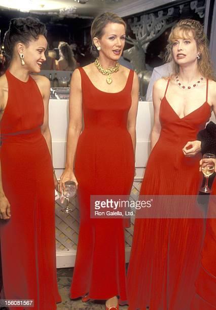 Caridad Rivera Blaine Trump and Diandra Douglas attend the Ninth Annual Ritay Hayworth Gala on November 11 1993 at Tavern on the Green in New York...