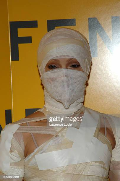Caridad Rivera Modine during Fendi 80th Anniversary All Hallow's Eve Party Hosted by Karl Lagerfeld at 25 Broadway in New York City New York United...