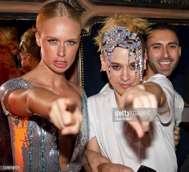 CariDee English and Indashio party at the Indashio Spring 2012 fashion show after party during Mercedes-Benz Fashion Week at Griffen on September 13,...