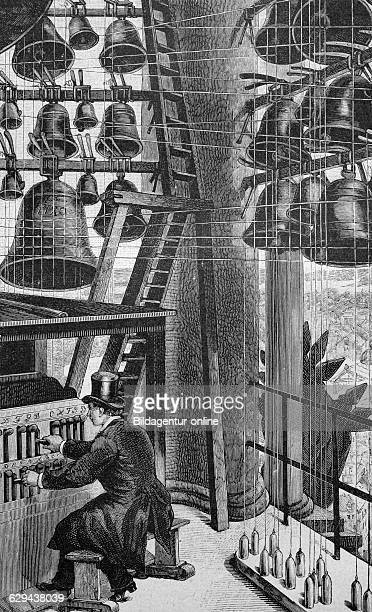 Carillon in the garnisonskirche church in potsdam brandenburg germany historical picture about 1893