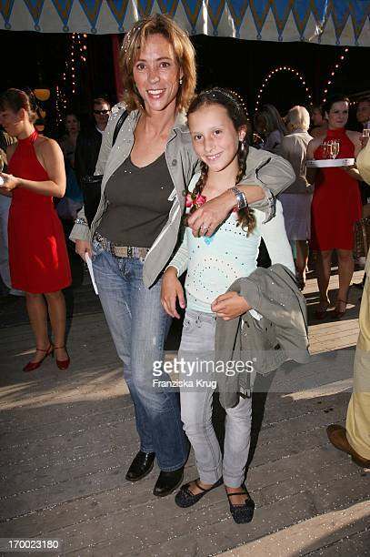 Carin C Tietze and daughter Lilly at the gala premiere of 30 years of Roncalli In Munich