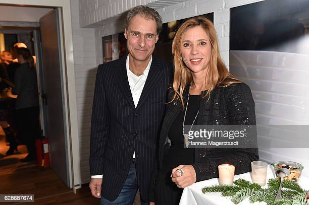 Carin C Tietze and Florian Richter during the CONNECTIONS PR XMAS Cocktail at Kaefer Atelier on December 8 2016 in Munich Germany