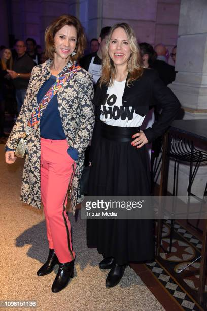 Carin C Tietze Anneke Kim Sarnau during the Blue Hour Party hosted by ARD during the 69th Berlinale International Film Festival at Haus der...