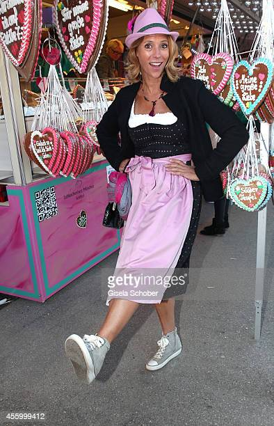 Carin C Tietze attend the 'GoldStar TV Wiesn' during Oktoberfest at Weinzelt Theresienwiese on September 23 2014 in Munich Germany