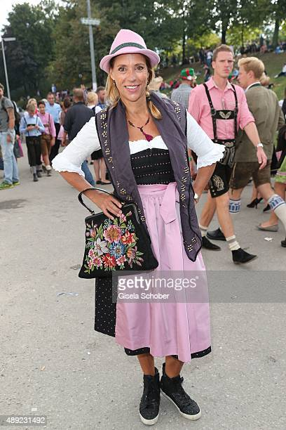 Carin C Tietze during the Oktoberfest 2015 Opening at Hofbraeu beer tent at Theresienwiese on September 19 2015 in Munich Germany