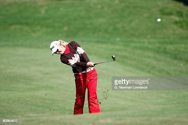 Carin Koch of Sweden hits a shot on the 8th hole during the second round of the SemGroup Championship presented by John Q Hammons on May 2 2008 at...