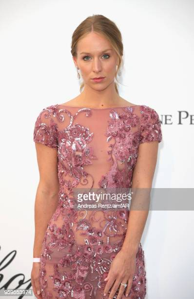 Carin Olsson arrives at the amfAR Gala Cannes 2018 at Hotel du CapEdenRoc on May 17 2018 in Cap d'Antibes France