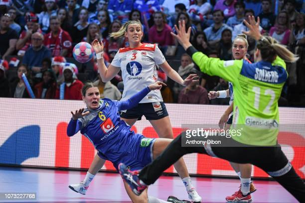 Carin Stromberg of Sweden during the EHF Euro match between Sweden and Norway on December 14 2018 in Paris France