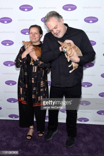 Carin van der Donk and Vincent D'Onofrio attend the Animal Haven Gala 2019 at Tribeca 360 on May 22 2019 in New York City