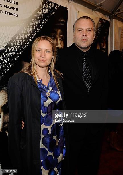 Carin van der Donk and Vincent D'Onofrio attend the premiere of Overture Films Brooklyn's Finest at AMC Lincoln Square Theater on March 2 2010 in New...