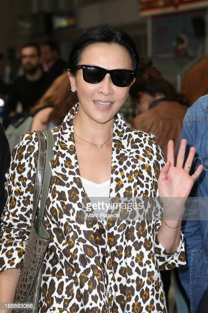 Carina Lau arrives at Nice airport to attend the 66th annual Cannes Film Festival on May 16 2013 in Nice France