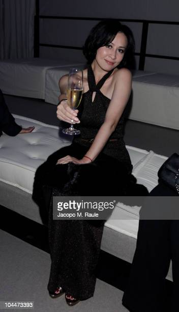 Carina Lau attend the Salvatore Ferragamo Seize The Moment Party during Milano Fashion Week Womenwear Spring/Summer 2011 on September 26 2010 in...