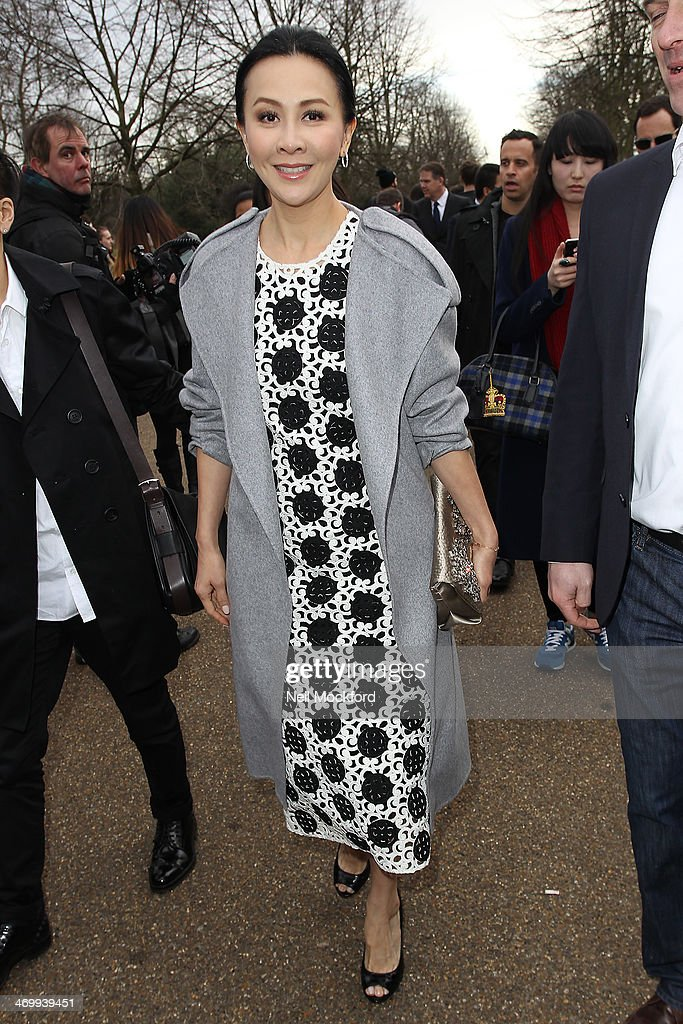 Celebrity Sightings At London Fashion Week AW14 - February 17, 2014