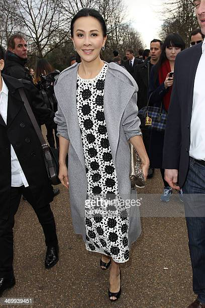 Carina Lau is pictured at Burberry Prorsum during London Fashion Week on February 17 2014 in London England