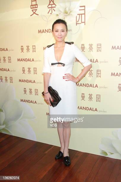 Carina Lau poses during a commercial event on September 23 2011 in Hong Kong China