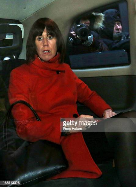 Carina Trimingham the girlfriend of Former Liberal Democrat minister Chris Huhne leaving Southwark Crown Court on March 11 2013 in London England...
