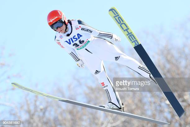 Carina Vogt of Germany competes in the Ladies normal hill individual during day one of the FIS Ski Jumping Women's World cup at Miyanomori Ski Jump...