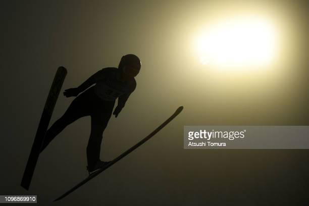 Carina Vogt of Germany in action during day two of the FIS Ski Jumping World Cup Ladies Zao at Kuraray Zao Schanze on January 20 2019 in Yamagata...