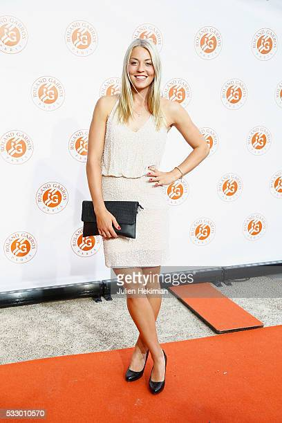 Carina Witthoeft attends the Roland Garros Players' Party at Grand Palais on May 19 2016 in Paris France