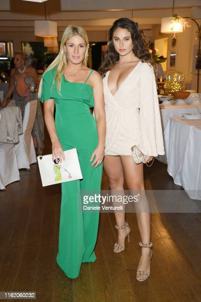 Carina Zavline and Hofit Golan attend the 2019 Ischia Global Film Music Fest opening ceremony on July 14 2019 in Ischia Italy