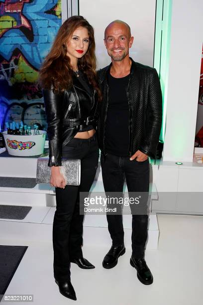 Carina Zavline and Peyman Amin during the Audemars Piguet and Wempe OldSchool Hip Hop Party at Skyloftstudios on July 26 2017 in Munich Germany