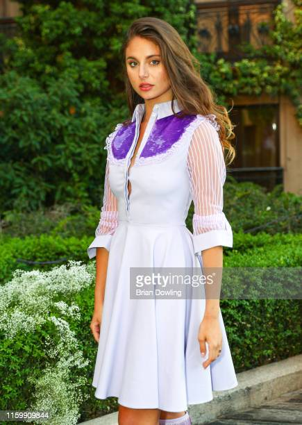 Carina Zavline at the Marcel Ostertag Fashion Show during the Berlin Fashion Week Spring/Summer 2020 at Westin Grand Hotel on July 03 2019 in Berlin...