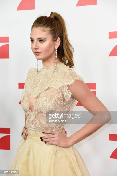 Carina Zavline GNTM Top 8 finalists attends the premiere of the television show 'This Is Us Das ist Leben' at Zoo Palast on May 11 2017 in Berlin...
