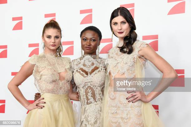 Carina Zavline Leticia WalaNtuba Romina Brennecke GNTM Top 8 finalists attend the premiere of the television show 'This Is Us Das ist Leben' at Zoo...
